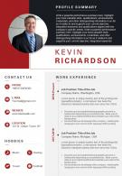 Visual Resume Example With Key Skills Section