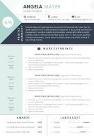 Visual Resume Format Template For Job Seekers
