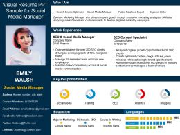 visual_resume_ppt_sample_for_social_media_manager_Slide01