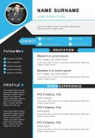 Visual Resume Professional A4 Template To Introduce Yourself