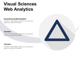 Visual Sciences Web Analytics Ppt Powerpoint Presentation Gallery Aids Cpb