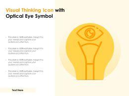 Visual Thinking Icon With Optical Eye Symbol