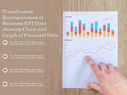 Visualization Representation Of Business Kpi Data Showing Chart And Graph Of Financial Data
