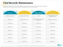 Vital Records Maintenance Obtain Records Ppt Powerpoint Professional
