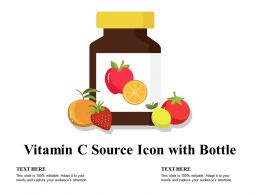 Vitamin C Source Icon With Bottle
