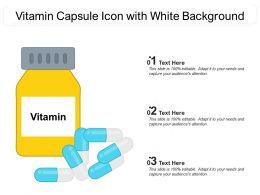 Vitamin Capsule Icon With White Background