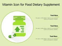 Vitamin Icon For Food Dietary Supplement
