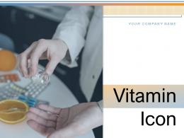 Vitamin Icon Source Background Supplement Medicine