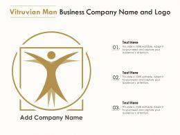 Vitruvian Man Business Company Name And Logo