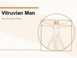 Vitruvian Man Collages Circular Frame Business Activities Physiology