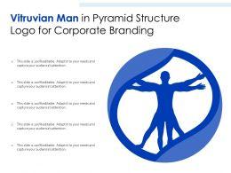 Vitruvian Man In Pyramid Structure Logo For Corporate Branding