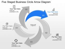 Vj Five Staged Business Circle Arrow Diagram Powerpoint Template