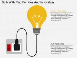 vl Bulb With Plug For Idea And Innovation Flat Powerpoint Design