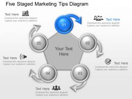 Vm Five Staged Marketing Tips Diagram Powerpoint Template