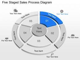 Vo Five Staged Sales Process Diagram Powerpoint Template