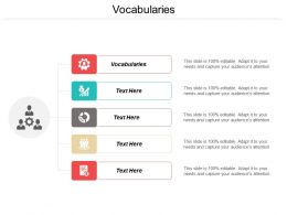 Vocabularies Ppt Powerpoint Presentation Icon Professional Cpb