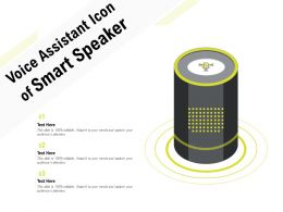 Voice Assistant Icon Of Smart Speaker