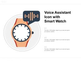 Voice Assistant Icon With Smart Watch