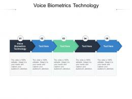 Voice Biometrics Technology Ppt Powerpoint Presentation Styles Professional Cpb
