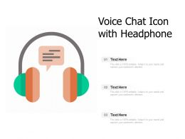 Voice Chat Icon With Headphone
