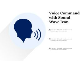 Voice Command With Sound Wave Icon