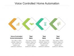 Voice Controlled Home Automation Ppt Powerpoint Presentation Professional Background Cpb