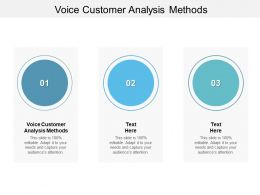 Voice Customer Analysis Methods Ppt Powerpoint Presentation Icon Cpb