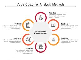 Voice Customer Analysis Methods Ppt Powerpoint Presentation Style Cpb