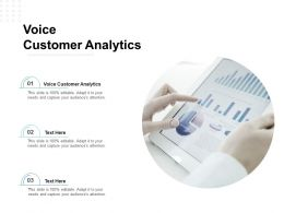 Voice Customer Analytics Ppt Powerpoint Presentation Model Slide Download Cpb