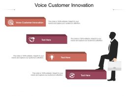 Voice Customer Innovation Ppt Powerpoint Presentation Visual Aids Outline Cpb