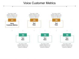 Voice Customer Metrics Ppt Powerpoint Presentation Slides Vector Cpb