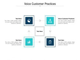 Voice Customer Practices Ppt Powerpoint Presentation Ideas Outfit Cpb