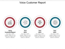 Voice Customer Report Ppt Powerpoint Presentation Professional Smartart Cpb