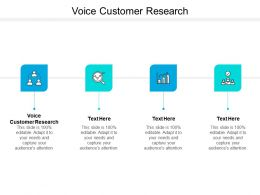 Voice Customer Research Ppt Powerpoint Presentation Summary Designs Cpb