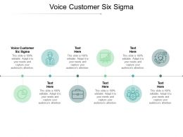 Voice Customer Six Sigma Ppt Powerpoint Presentation Outline Introduction Cpb