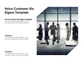 Voice Customer Six Sigma Template Ppt Powerpoint Presentation File Graphics Design Cpb