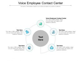 Voice Employee Contact Center Ppt Powerpoint Presentation Model Inspiration Cpb