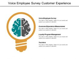 Voice Employee Survey Customer Experience Measurement Loyalty Program Management Cpb