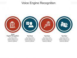 Voice Engine Recognition Ppt Powerpoint Presentation Model Smartart Cpb