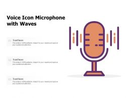 Voice Icon Microphone With Waves