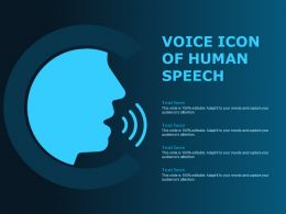 Voice Icon Of Human Speech