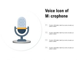 Voice Icon Of Microphone