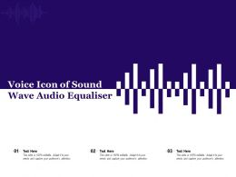 Voice Icon Of Sound Wave Audio Equaliser