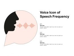 Voice Icon Of Speech Frequency