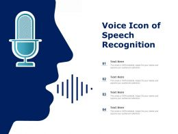 Voice Icon Of Speech Recognition