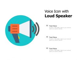 Voice Icon With Loud Speaker