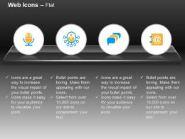 Voice Mail Speech Bubbles Mail Ppt Icons Graphics