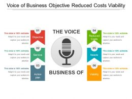 Voice Of Business Objective Reduced Costs Viability