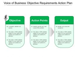 Voice Of Business Objective Requirements Action Plan