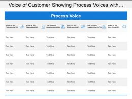 Voice Of Customer Showing Process Voices With Vob Voe And Vos